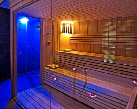 Sauna and shower emotional at the Best Western Hotel Genio in Turin