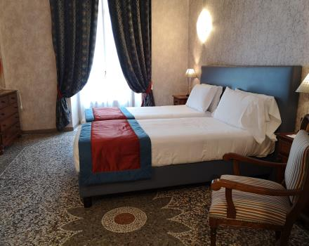 Hotel Genio Turin-superior double room with mosaic floor dating back to late 800